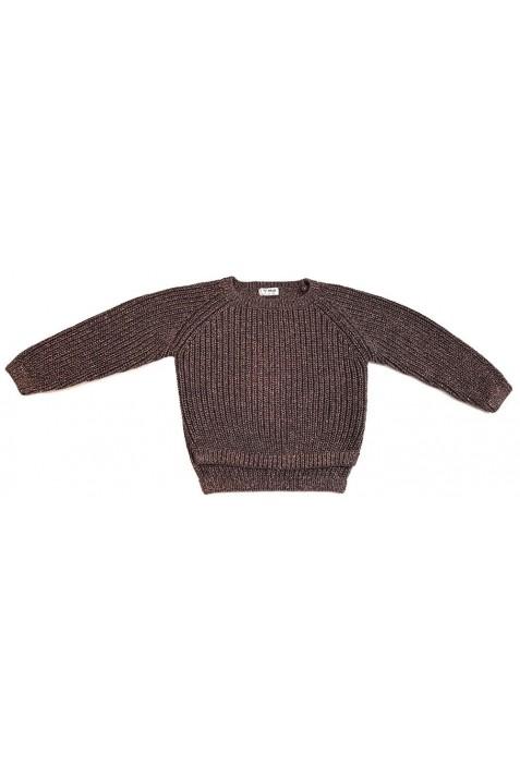 Csillogó szürke-bronz pulóver (122)