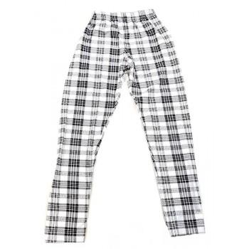 Fekete-fehér kockás nadrág (140)