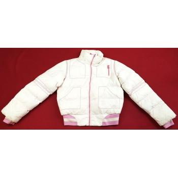 Fehér-rózsaszín télikabát (140)