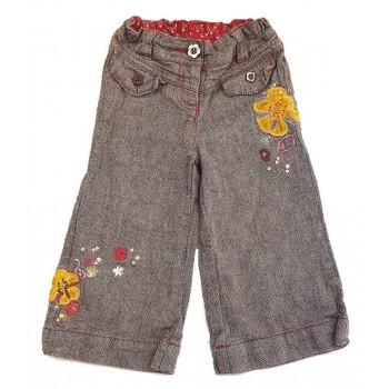 Virágos barna nadrág (86)