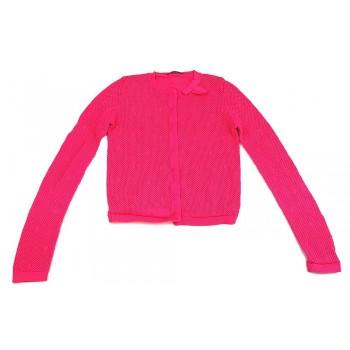 Hálós pink kardigán (146-152)