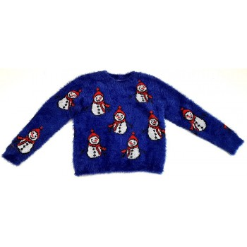 Hóemberes kék pulóver (122)