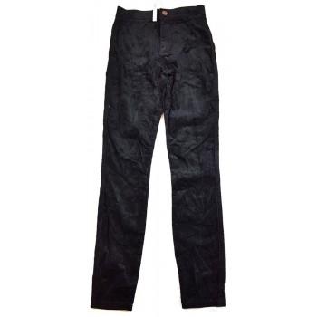 Új, fekete mikrokord nadrág (152-158)