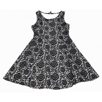 Fekete mintás alkalmi ruha (158)
