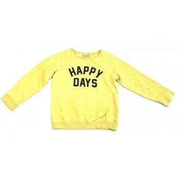 Feliratos sárga pulóver (128)
