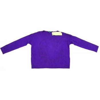 Új, feliratos kék pulóver (110)