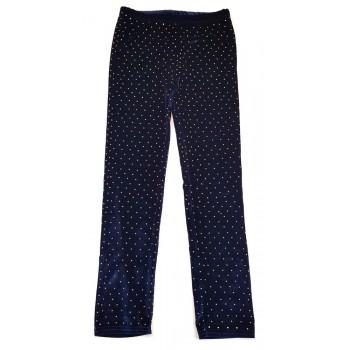 Strasszos sötétkék leggings (152)