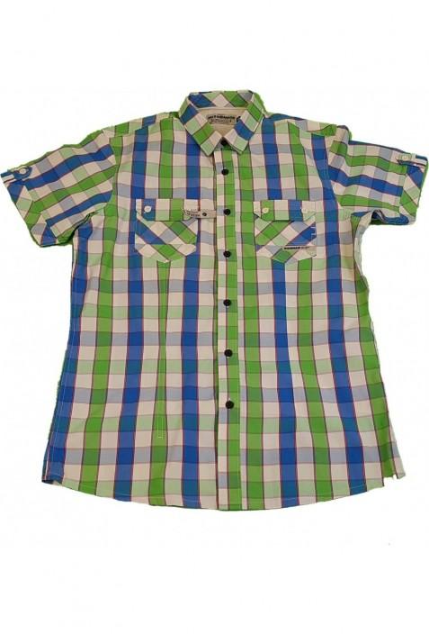Kék-zöld kockás ing (164-176)