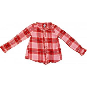 Rózsaszín-piros kockás ing (110)