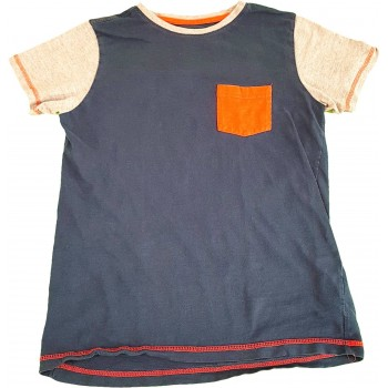 Narancs zsebes kék felső (152)