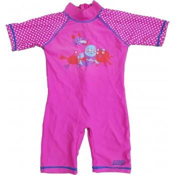 Fókás pink úszóruha (86-92)