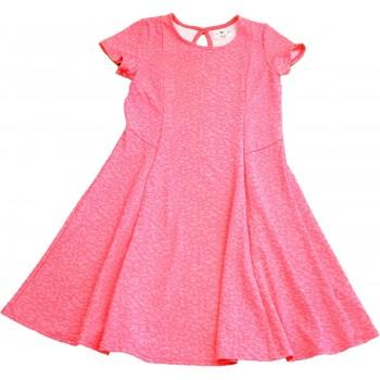 Párducmintás neonpink ruha (158)