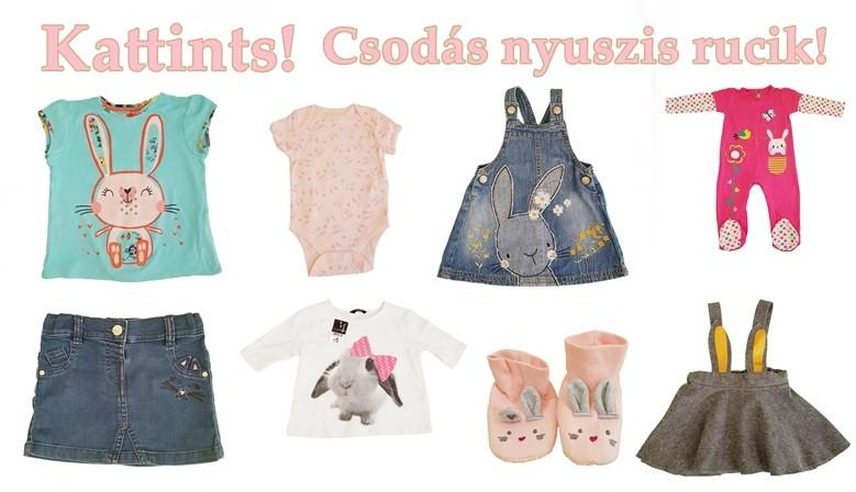 Gyönyörű nyuszikűs ruhák, hogy Húsvétra is csinosan öltöztethesd a gyereked.